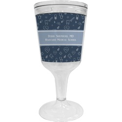 Medical Doctor Wine Tumbler - 11 oz Plastic (Personalized)