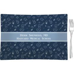 Medical Doctor Rectangular Glass Appetizer / Dessert Plate - Single or Set (Personalized)