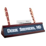 Medical Doctor Red Mahogany Nameplate with Business Card Holder (Personalized)