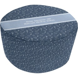Medical Doctor Round Pouf Ottoman (Personalized)
