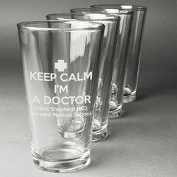 Medical Doctor Beer Glasses (Set of 4) (Personalized)