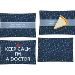 Medical Doctor Set of 4 Glass Rectangular Appetizer / Dessert Plate (Personalized)