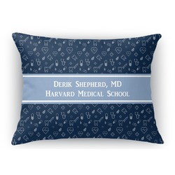 Medical Doctor Rectangular Throw Pillow Case (Personalized)