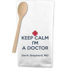 Medical Doctor Waffle Weave Kitchen Towel (Personalized)