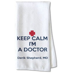 Medical Doctor Waffle Weave Kitchen Towel - Partial Print (Personalized)