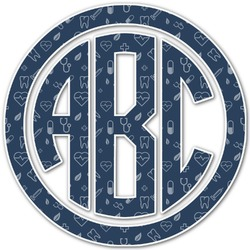 Medical Doctor Monogram Decal - Custom Sized (Personalized)