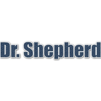 Medical Doctor Name/Text Decal - Custom Sizes (Personalized)