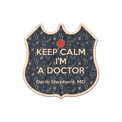 Medical Doctor Genuine Maple or Cherry Wood Sticker (Personalized)