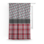 Red & Gray Dots and Plaid Curtain (Personalized)