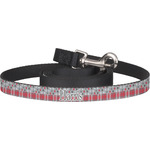 Red & Gray Dots and Plaid Dog Leash (Personalized)