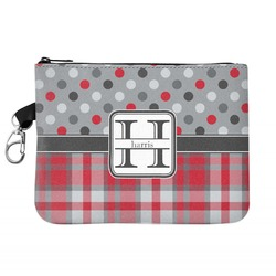 Red & Gray Dots and Plaid Golf Accessories Bag (Personalized)
