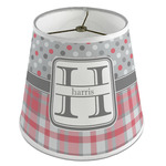 Red & Gray Dots and Plaid Empire Lamp Shade (Personalized)