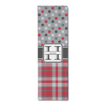 Red & Gray Dots and Plaid Runner Rug - 3.66'x8' (Personalized)