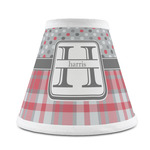 Red & Gray Dots and Plaid Chandelier Lamp Shade (Personalized)