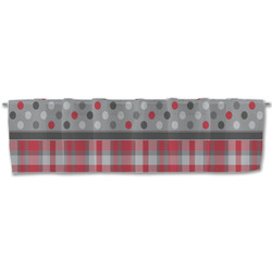 Red & Gray Dots and Plaid Valance (Personalized)