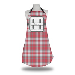Red & Gray Plaid Apron (Personalized)