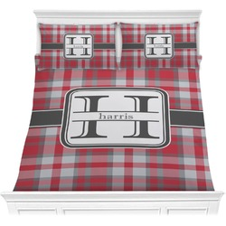 Red & Gray Plaid Comforters (Personalized)
