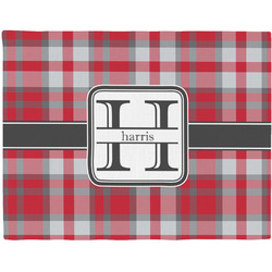 Red & Gray Plaid Placemat (Fabric) (Personalized)