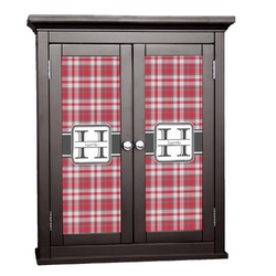 Red & Gray Plaid Cabinet Decal - Custom Size (Personalized)