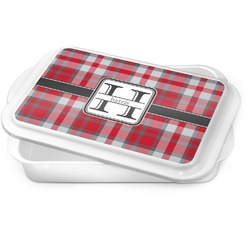 Red & Gray Plaid Cake Pan (Personalized)
