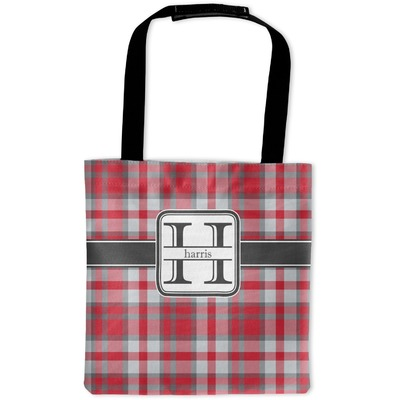 Red & Gray Plaid Auto Back Seat Organizer Bag (Personalized)