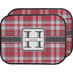 Red & Gray Plaid Car Floor Mats (Back Seat) (Personalized)