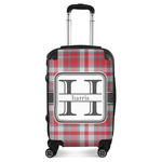 Red & Gray Plaid Suitcase (Personalized)
