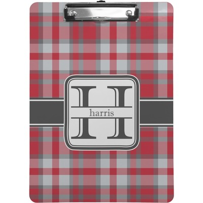 Red & Gray Plaid Clipboard (Personalized)