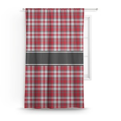 Red & Gray Plaid Curtain (Personalized)