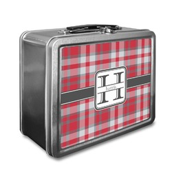 Red & Gray Plaid Lunch Box (Personalized)