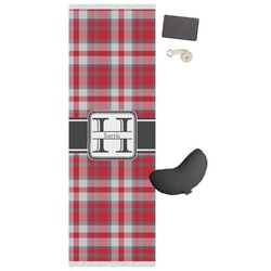Red & Gray Plaid Yoga Mat (Personalized)