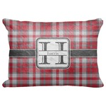 "Red & Gray Plaid Decorative Baby Pillowcase - 16""x12"" (Personalized)"
