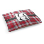 Red & Gray Plaid Dog Bed (Personalized)