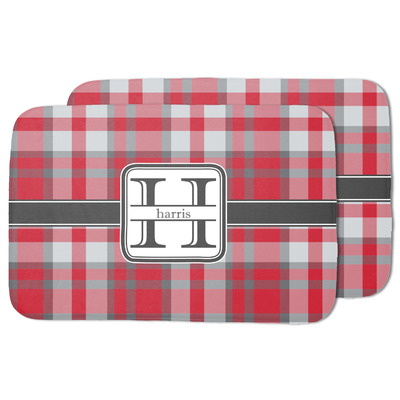 Red & Gray Plaid Dish Drying Mat (Personalized)