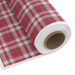 Red & Gray Plaid Custom Fabric by the Yard (Personalized)