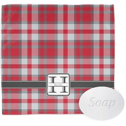 Red & Gray Plaid Wash Cloth (Personalized)