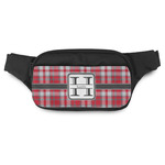 Red & Gray Plaid Fanny Pack (Personalized)