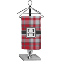 Red & Gray Plaid Finger Tip Towel - Full Print (Personalized)