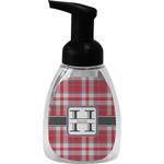 Red & Gray Plaid Foam Soap Dispenser (Personalized)
