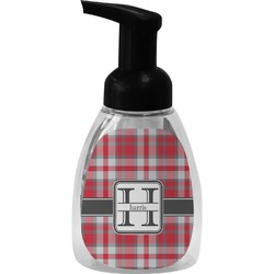 Red & Gray Plaid Foam Soap Dispenser (Personalized)