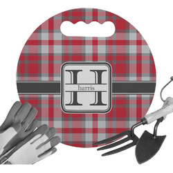 Red & Gray Plaid Gardening Knee Cushion (Personalized)