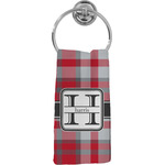 Red & Gray Plaid Hand Towel - Full Print (Personalized)