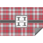 Red & Gray Plaid Indoor / Outdoor Rug (Personalized)