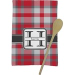 Red & Gray Plaid Kitchen Towel - Full Print (Personalized)