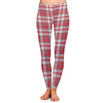 Red & Gray Plaid Ladies Leggings (Personalized)