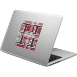 Red & Gray Plaid Laptop Decal (Personalized)