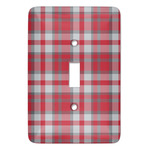 Red & Gray Plaid Light Switch Covers (Personalized)