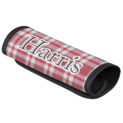 Red & Gray Plaid Luggage Handle Cover (Personalized)