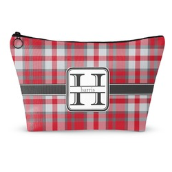 Red & Gray Plaid Makeup Bags (Personalized)