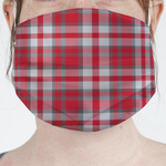 Red & Gray Plaid Face Mask Cover (Personalized)